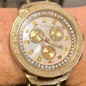 Joe Rodeo White Face Master Diamond Watch 2.2 Ct